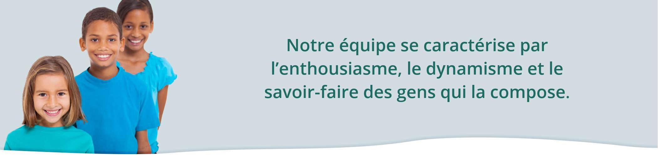 Équipe dentistes pédiatriques Montréal